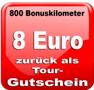 800 Bonuskilometer = 8 €