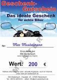 Biker Geschenkgutschein 200 EUR