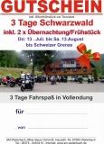 Geschenkgutschein 3 Tage Schwarzwald 12. - 14. Juli