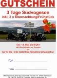 Geschenkgutschein 3 Tage Südvogesen 30.08. - 01.09.18