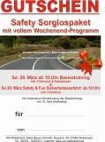 Geschenkgutschein Safety Sorglospaket 23. - 25. März 18